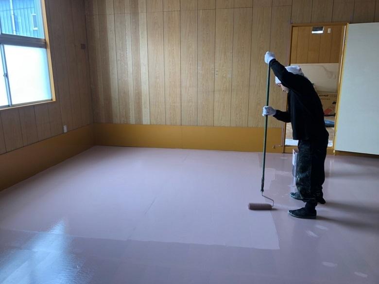 埼玉県所沢市の賃貸倉庫床塗装(防塵塗装)工事