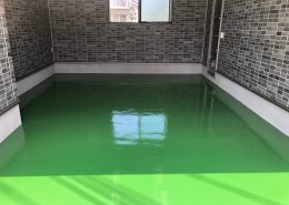 東京都武蔵村山市の個人邸ガレージ床塗装(ケミクリートEPカラー)