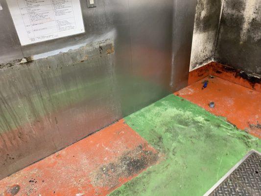 東京都足立区の焼き鳥屋厨房|床塗装(塗床):タフクリートMH