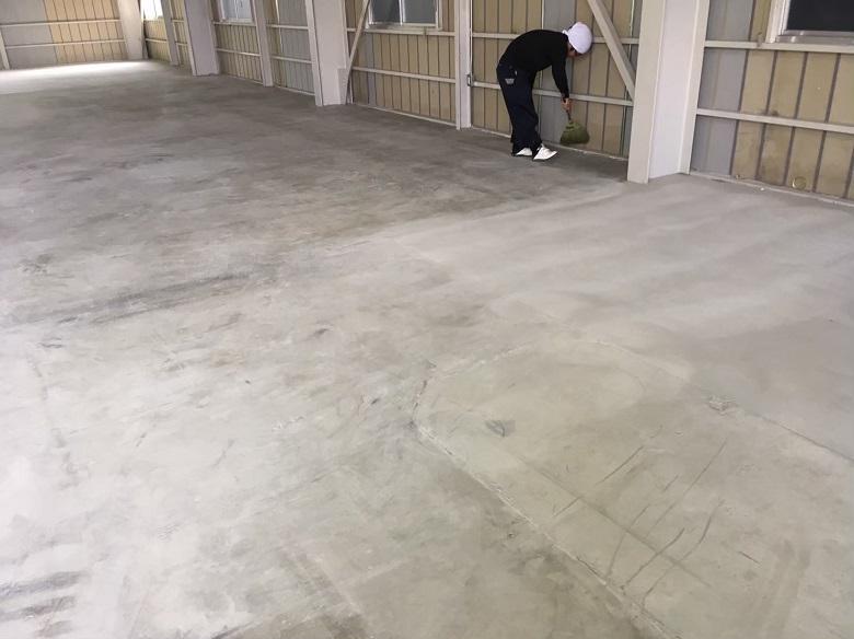 埼玉県川越市の貸工場 床塗装(塗床)工事:ケミクリートEPカラー