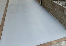茨城県龍ヶ崎市 駐車場コケ対策の滑り止め塗床工事:ケミクリートE