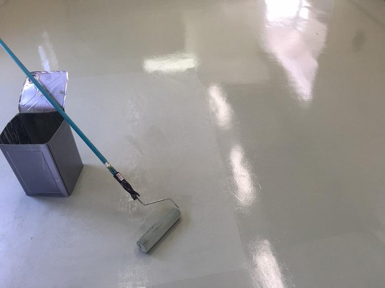 千葉県浦安市の駐車場(ガレージ)|床塗装(塗床)工事:ケミクリートEPカラー