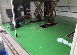 山梨県北杜市のガソリンスタンド床塗装(塗床)工事