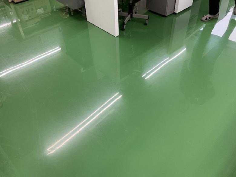 東京都立川市の工場|エポキシ塗床を静電気防止タイプに塗替:ケミコンダクトS-10