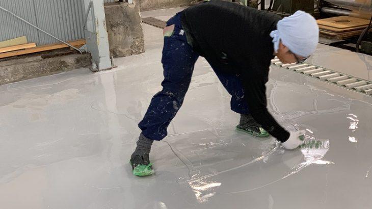 東京都墨田区の塗床(床塗装)工事