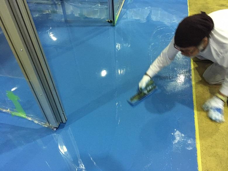 茨城県の精密機械工場|塗床(床塗装)工事:ケミクリートE