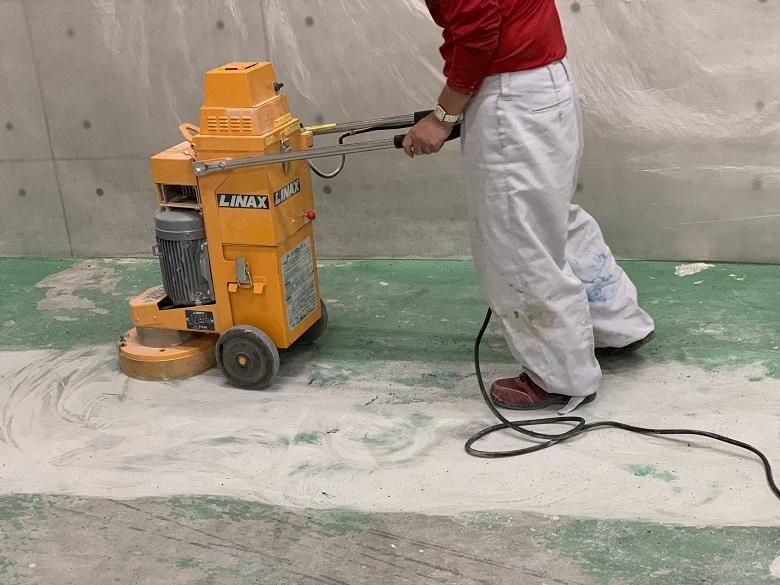 埼玉県伊奈町のカーコーティング工場 工場らしく見える床塗装工事:ジョリエースE