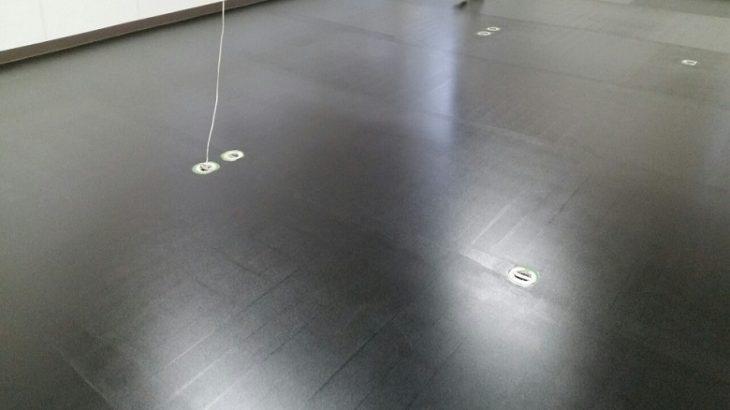 東京都立川市で帯電防止塗床を施工