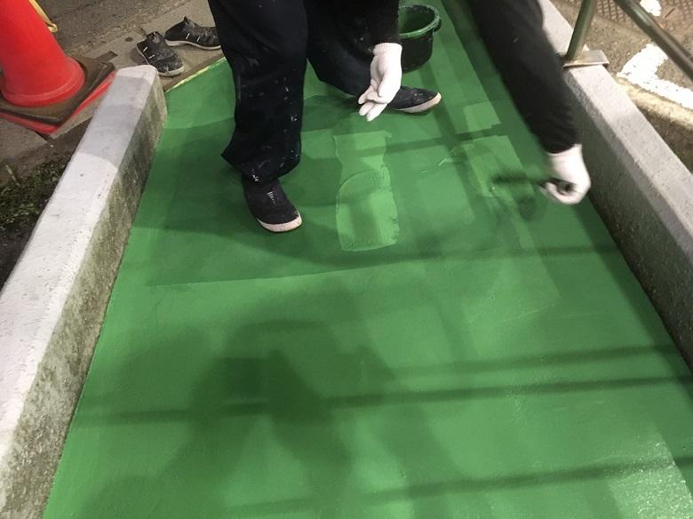 さいたま市大宮区のスーパー外部通路塗床