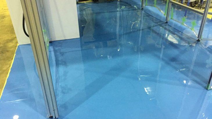 茨城県の精密機械工場塗床(床塗装)工事