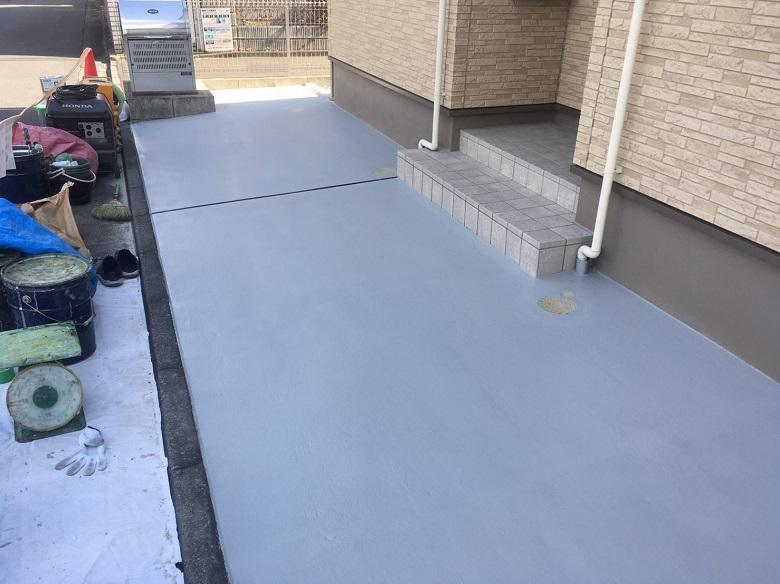 東京都板橋区の駐車場の床塗装
