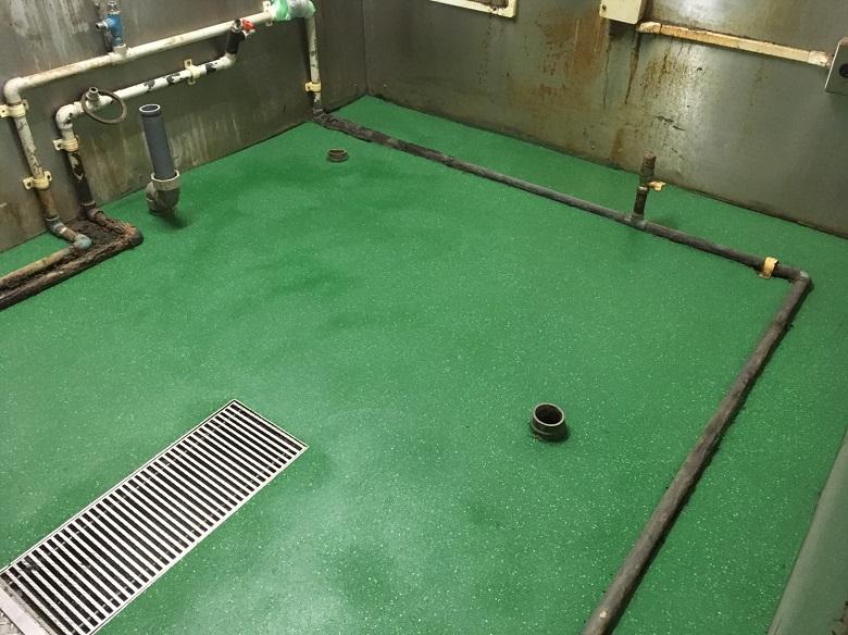 千葉県船橋市のうなぎ屋|厨房防滑塗床工事:タフクリートMH