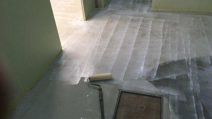 埼玉県鴻巣市のスーパーマーケット作業場|塗床(床塗装)工事:ケミクリートE
