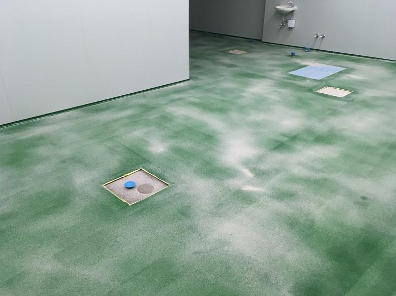 埼玉県鴻巣市のスーパーマーケット作業場 塗床(床塗装)工事:ケミクリートE