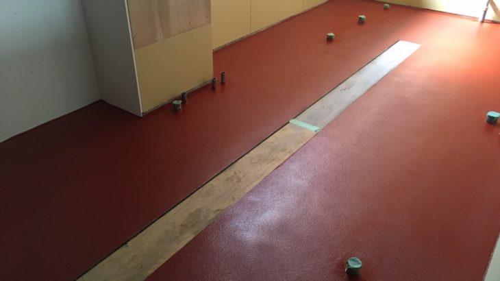 東京都新宿区のしゃぶしゃぶ屋さん(飲食店)厨房|塗床(床塗装):ケミクリートEを施工