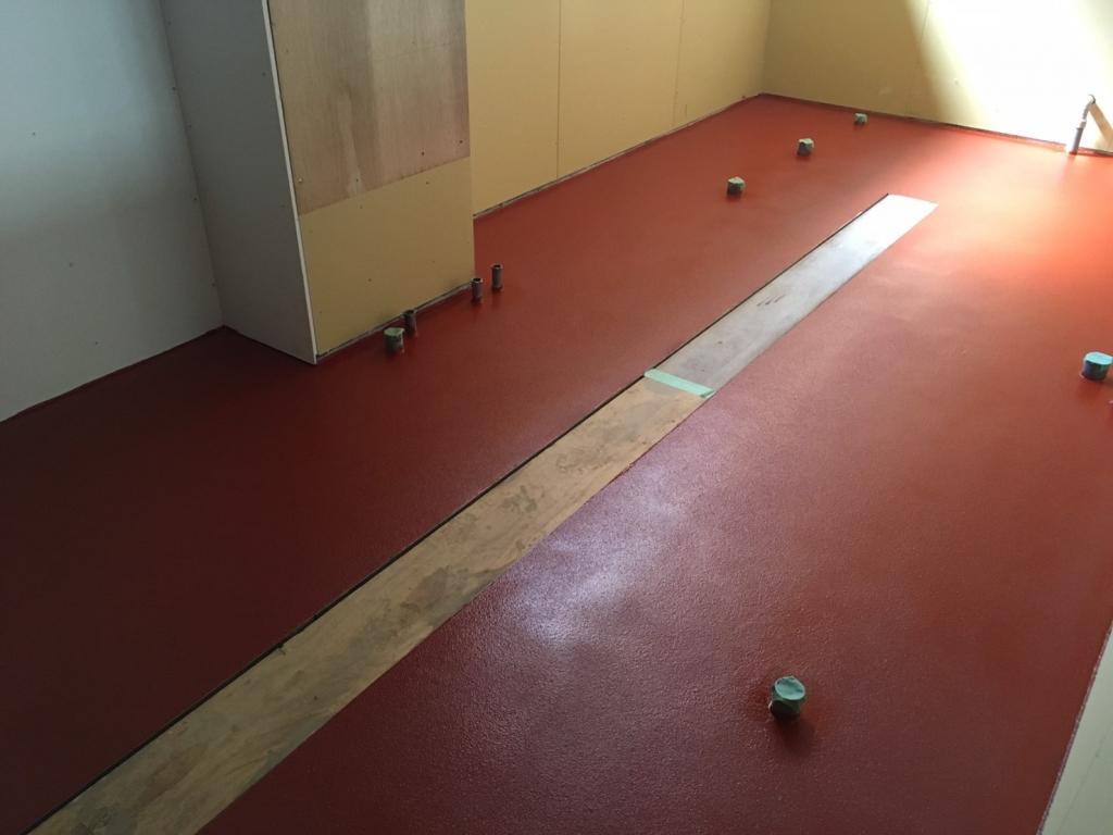 東京都新宿区のしゃぶしゃぶ屋さん厨房ケミクリートE工事