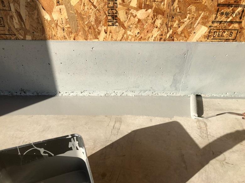 埼玉県春日部市|倉庫コンクリート、防塵・防湿目的床塗装工事:ケミクリートEPカラー
