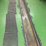 千葉県内のホテル厨房側溝塗床施工前