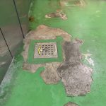 厨房塗床剥がれの画像