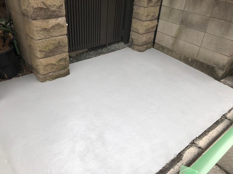 東京都足立区の個人邸ガレージ|コケ・汚れ対策の塗床工事