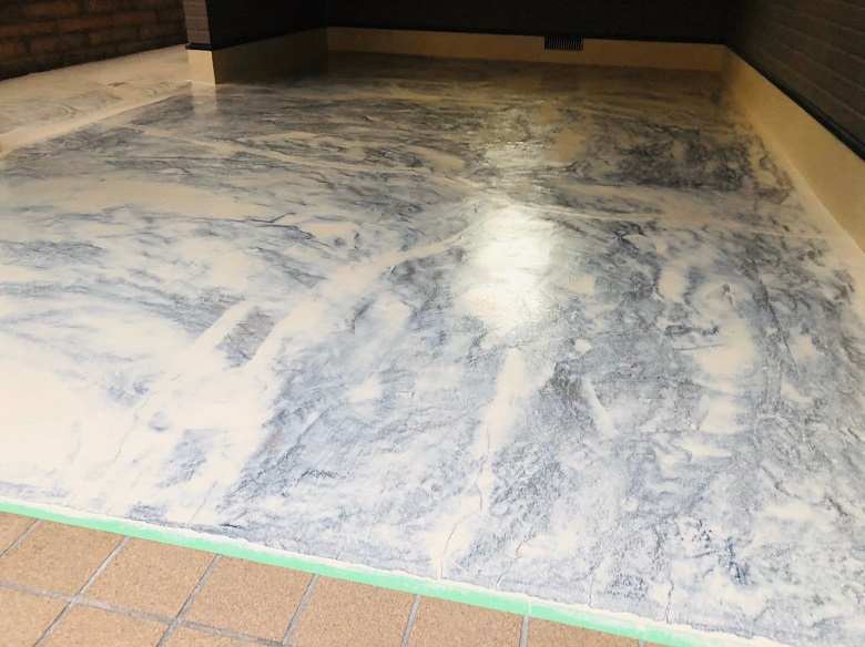 東京都足立区ガレージ|塗床:ケミクリートEPカラー