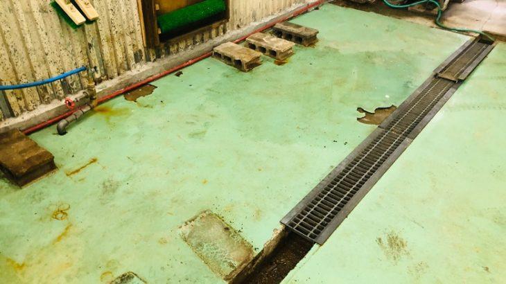 埼玉県内|おせんべい工場|床塗装塗替え工事