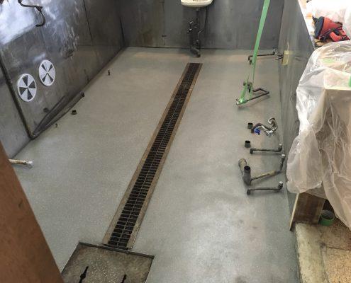 厨房の塗床(施工後)