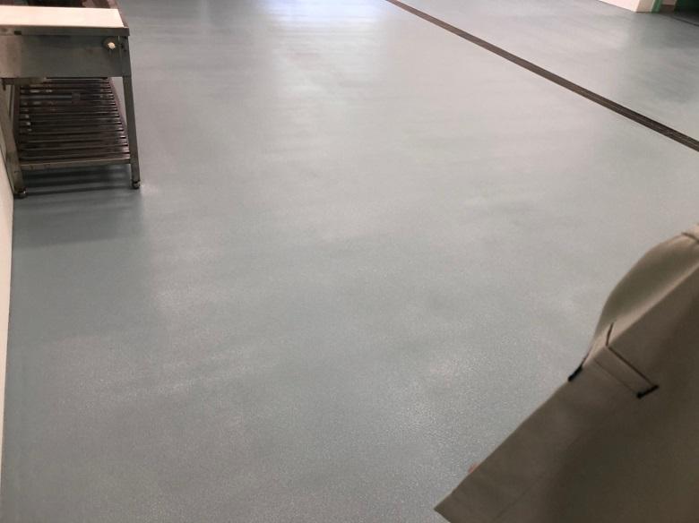 耐熱性塗床材「タフクリートMH」施工完了