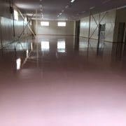 ケミクリートEPカラーを使用した塗床・施工完了