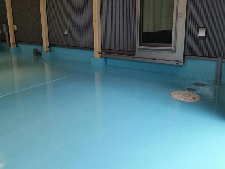 床塗装下塗り
