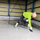 自動車整備工場の塗床工事