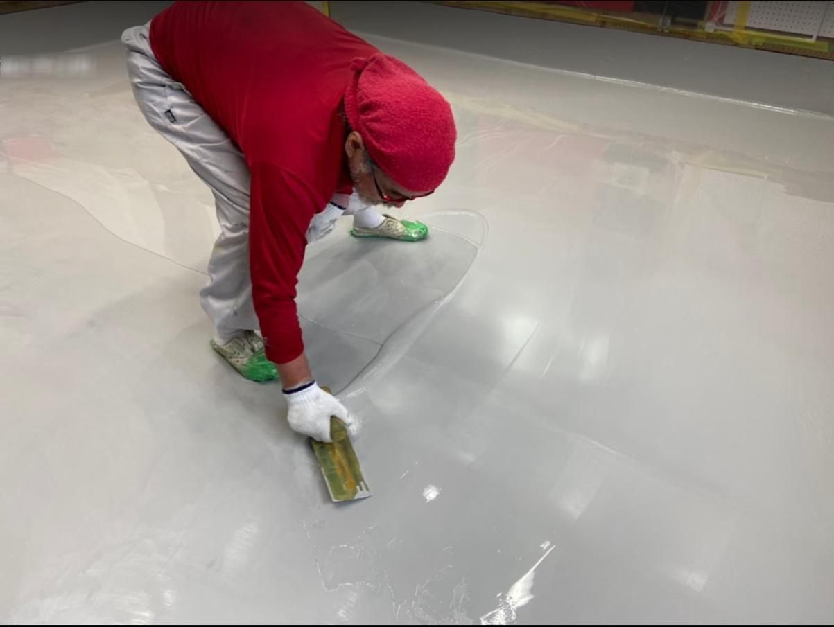 ガレージの塗床塗装