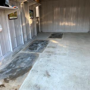 ガレージの床塗装前