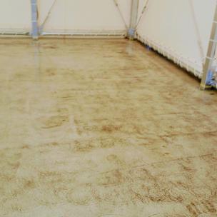 洗車場のコンクリート床