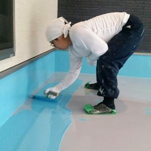 厚膜タイプの床塗装(塗床)