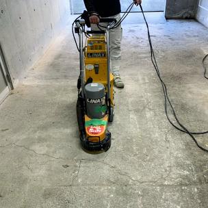 ガレージ床の研摩
