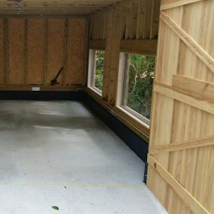 施工前のガレージ床